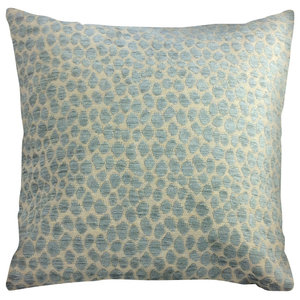 """Dotson Throw Pillow, Blue and Beige 18""""x18"""""""