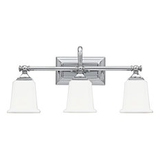 Nicholas 3 Light Bathroom Vanity Light in Polished Chrome