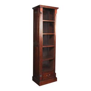 5 Shelf La Roque Mahogany Narrow Alcove Bookcase