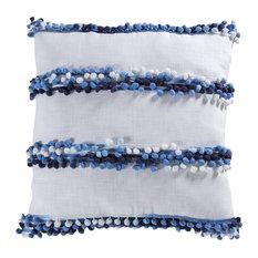 Elk Lochport 20X20 Pillow 906602, Soft Denim, White