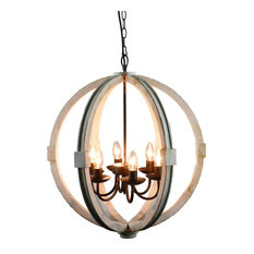 Elegantly Framed Calder Wooden Chandelier