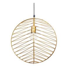 1st Avenue   Evaline Ragtime 1 Light Pendant, Powder Coated Gold   Pendant