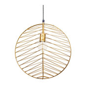Renwil LPC133 1-Light Ceiling Fixture Ragtime Gold Powder Coating
