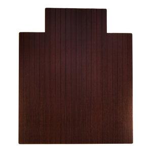 Anji Mountain Bamboo 44  x52   Roll-Up Chairmat With Lip