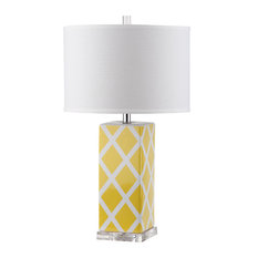 Safavieh Garden Lattice Table Lamp, Yellow