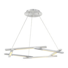 """Modern Forms Metric 38"""" LED Chandelier in Brushed Aluminum"""