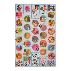 "Fun Rugs Fun Time Collection Now I Know My ABC's Area Rug, 6'8""x10'"