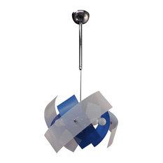 Satellite Pendant Lamp, Blue and White, Small