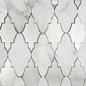 Odeza Palisade Marble and Mirror Tile, Calacutta/Mirror
