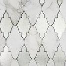 Odeza Palisade Marble and Mirror Tile, Calacutta/Mirror