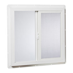 24x24 Vinyl Utility Left, Hand Sliding Window with Dual Pane Insulated Glass