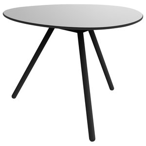 A-Lowha Dining Table, Grey, Black Frame