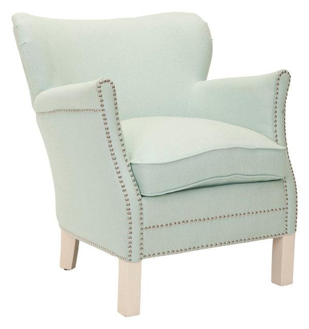 Jenny Arm Chair, Robins Egg Blue