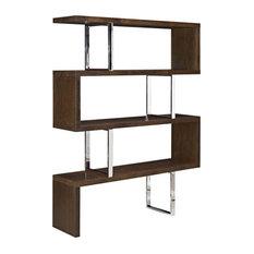 Modway Meander Stand 3 Shelf Bookcase In Walnut