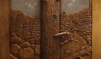 Eagle Trout Carved Entry Door