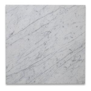 "18""x18"" Carrara White Marble Tile Honed Italian Bianco Carrera, Set of 88"