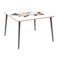 Mason Flare Dining Table - Marble & Gold