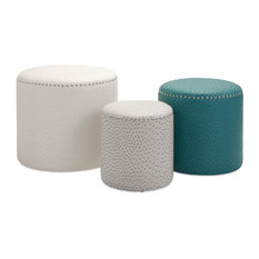 imax worldwide home claire ottomans 3piece set footstools and ottomans