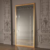"Global Views 8.82551 Beaumont 48"" x 96"" Rectangular Beveled Wood Framed Wall Mo"