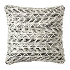 Herringbone Berber Pillow, Black