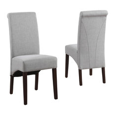 Deluxe Parson Dining Chair in Dove Gray - Set of 2
