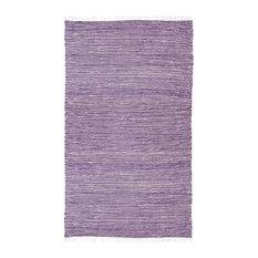 Purple Complex Chenille Flat Weave Rug, 8'x10'