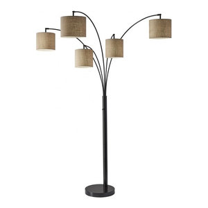 Lucianna 83 Quot 5 Arch Led Floor Lamp With Dimmer Antique