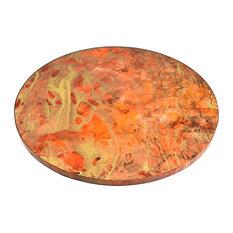 """Lacquer Lazy Susan 20"""", Flame Orange"""