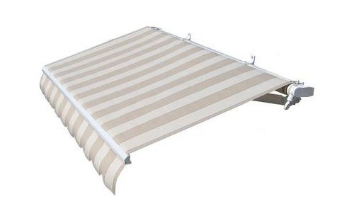 Retractable Patio Awning Beige Stripes More Info