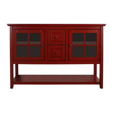 52 Wood Console Table Tv Stand Antique Red