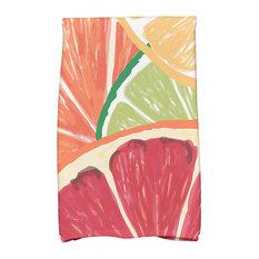 "16""x25"" Lemonade, Geometric Print Kitchen Towel, Orange"