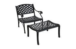 Kokomo Deep Seat Club Chair and Ottoman Set Without Cushions