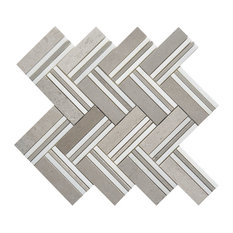 "12""x11"" Quilt Collection, Mohegan, Mixed Big Herringbone, Polished, Set of 5"
