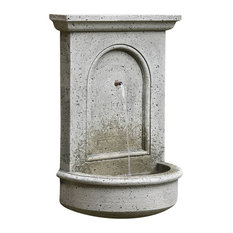 campania portico wall garden water fountain alpine stone outdoor fountains and ponds