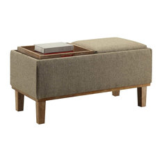 Convenience Concepts   Brentwood Storage Ottoman, Sandstone   Footstools  And Ottomans