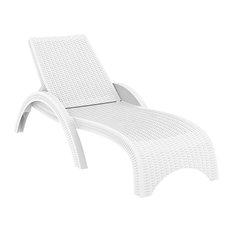 Compamia Miami Outdoor Chaise Lounges, Set of 2, White