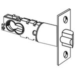 """Schlage - Schlage 16-203 S-Series 2-3/8"""" or 2-3/4"""" Replacement Deadlatch, Satin Chrome - Square Corner 1"""" x 2-1/4"""" Faceplate for UL Listed Locks"""