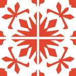 """Tyles by the Nic Studio - 8""""x8"""" Renovated Souk Sophisticated Vinyl Wall Decor, Warm Red, Set of 12 - Our original Souk pattern, as seen on DIY Network's I Want That!, is now discontinued. But this reimagined version will have you smiling from ear to ear. Tyles from The Nic Studio offer a stylish solution to changing your space without commitment. The sets of were put together for ease of application and flexibility of space. Whether it's a full wall, a border, or a detail, Tyles are the perfect size to work with, and are ideal for renters and owners alike. Package includes: 12 8x8"""" square Tyles, application instructions, a sample piece of vinyl to test on your wall for adherence, and a plastic tool for application. Tyles are designed and packaged in Brooklyn, New York. Manufactured in the USA."""
