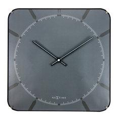 Michael Square Dome Wall Clock, Grey