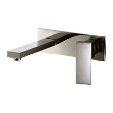 DAWN   Dawn Wall Mounted Single Lever Concealed Washbasin Mixer, Brushed  Nickel   Bathroom Sink