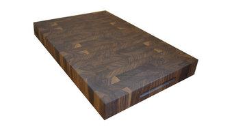 Medium End Grain Cutting Boards, All Walnut, With Rubber Feet