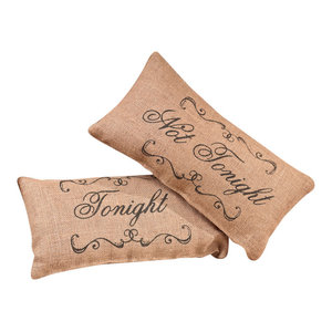 Small Burlap Tonight Country Pillow The Country House Collection 92695
