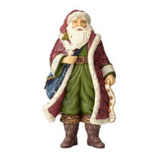 Enesco Heartwood Creek Victorian Santa in Boots Figurine