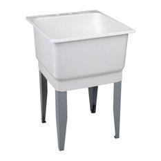 "Mustee Utilatub Utility Sink 25.2""x23.5""x15.5"", White"