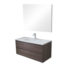 Box 2-Drawer Bathroom Vanity Unit, Britannia Finish, 80 cm