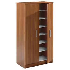 Basic 7 Shelf Shoe Rack, Chestnut