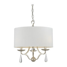 Crystorama Manning 3 Light Silver Leaf Ceiling Mount