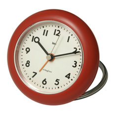 Rondo Travel Alarm Clock Red Clocks