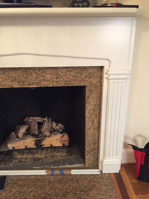 Ugly Granite Fireplace Surround