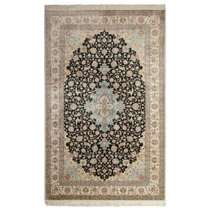 Herike Silk Oriental Rug, Hand-Knotted Classic, 244x152 cm